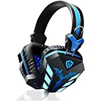 Gaming Headphone 3.5mm USB Game Headset Stereo Bass Noise Canceling Isolating With Microphone LED Light For PC...
