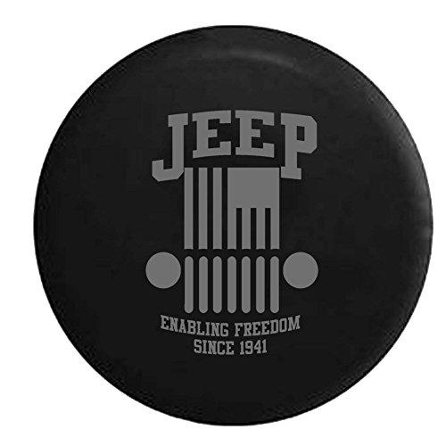 Stealth – Jeep Wrangler Enabling Freedom Military Flag Spare Tire Cover OEM Vinyl Black 32-33 in