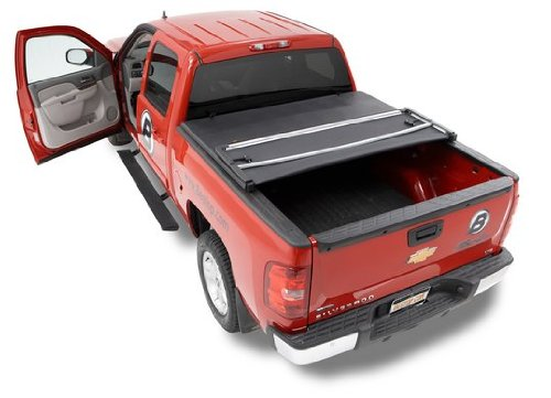 Bestop 16212-01 EZ Fold Truck Tonneau Cover for Chevy Silverado/GMC Crew Cab, 5.8′ Bed, w/o bed management system 2007-2013
