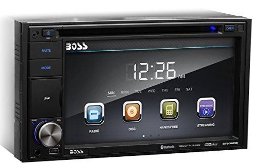 BOSS AUDIO BV9362BI Double-DIN 6.2 inch Touchscreen DVD Player Receiver, Bluetooth, Wireless Remote