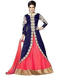 Sancom Blue Colored Raw Silk Party Wear Designer Salwar Kameez-SESFSK302031