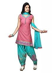Old Rose Cotton Straight Salwar Kameez For Ladies