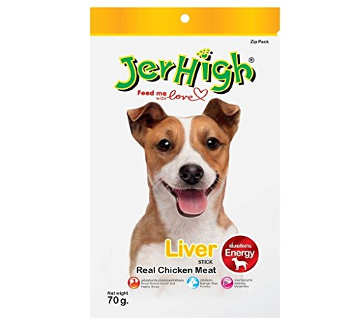 JerHigh Liver Stick Real Chicken Meat, 70 G (Pack Of 3)