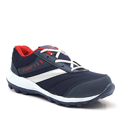 Castel Men's Navy Mesh Eva Resin Sports Shoes