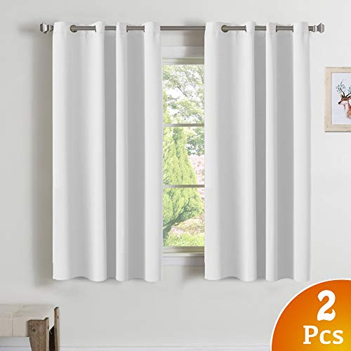 White Curtains for Bedroom Pure White Color Window Treatment