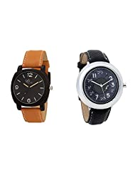 Gledati Men's Black Dial & Foster's Women's Grey Dial Analog Watch Combo_ADCOMB0002055