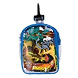 Realistic Dinosaur Playset: 12 Piece Toy Set In Clip Bag For Play On The GO!