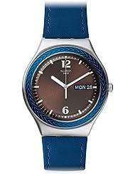 Swatch Men's Irony YGS774 Blue Leather Swiss Quartz Watch