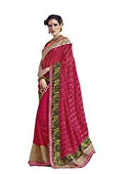 DivyaEmporio Women's Traditional Georgette Saree/Sari With Unstitched Blouse (Free Size) - B00SHCCJMA