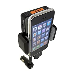 Advanced Car Mount System for Apple iPhone 3G and 3GS/ iPod Touch 2nd Generation - 360 degrees rotating flexible Neck, built-in cutting edge FM Transmitter