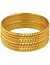 Kalyani Covering Brass Gold Bangle Set For Girls & Women.
