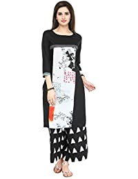 Varanga Black Rayon Printed Kurta With Palazzo VARAW15210520_PZ17125_RE17-XL_