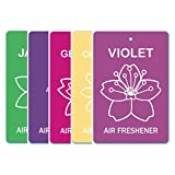 Edelcrafts Car Home Office Paper Hanging Air Freshener (Buy 4 Get 5) - FREE SHIPPING - Choice: Violet, Chamomile...