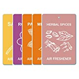 Edelcrafts Car Home Office Paper Hanging Air Freshener (Buy 4 Get 5) - FREE SHIPPING - Choice: Herbal Spices,...