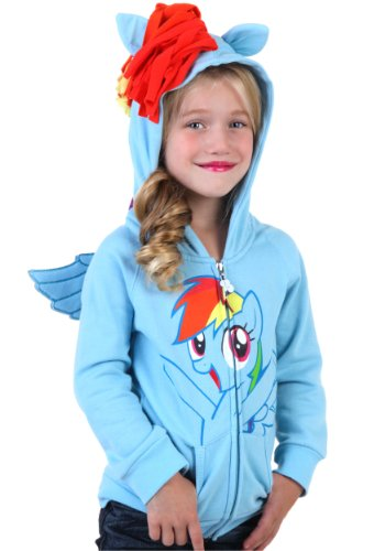My Little Pony Hoodie Rainbow Dash Kids Sky Blue Costume Sweatshirt