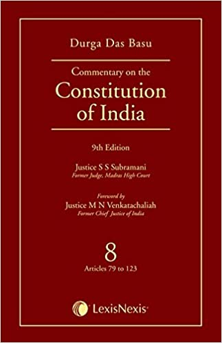 DD Basu Commentary on the Constitution of India -