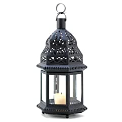 Gifts & Decor Moroccan Ornate Metalwork Birdcage Candleholder Lantern