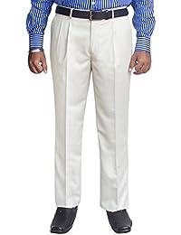 Kinger Men's Pleat Front Trousers
