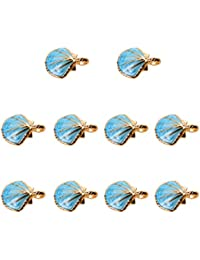 Generic Cute Shell Charms Pendants Bracelet Fit DIY Jewelry Making For Necklace Bulk Pack Of 10Pcs