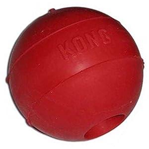 Pet Supplies : KONG Ball Dog Toy, Medium/Large, Red