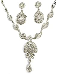 AUSTRIAN DIAMOND NECKLACE SET BY ZAVERI PEARLS - ZPFK1271
