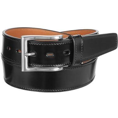 Layered Flat Cordovan Belt KTB-159: Black