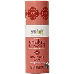 Aura Cacia Organic Chakra Balancing Roll-On, Grounding Root, 0.31 fluid ounce