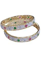 RETTOL American Diamond Pair Of Bangles Set For Women''s - B01KT3LW22