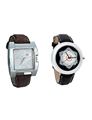 Gledati Men's White Dial & Foster's Women's Black Dial Analog Watch Combo_ADCOMB0002257