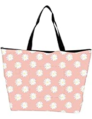 Snoogg Pink Flower Waterproof Bag Made Of High Strength Nylon - B01I1KJEMK