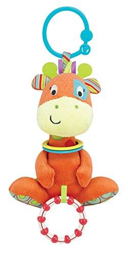Winfun Giraffe Hand Rattle Squeaker Crinkle Sound, Multi Color