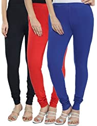 Style Acquainted People Women's Cotton Leggings (Pack Of 3) - B015J87JX8