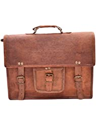 "Crafat 15"" Men's Vintage Genuine Leather Office Laptop Messenger Shoulder Bag (11x15)"