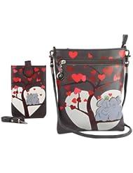 Combo Offer Of Designer Sling Bag + Mobile Sling Bag Grey Printed Stylish Mobile Sling Bag For Girls, Womens,...