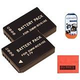 Pack Of 2 Panasonic Lumix DMC-ZS15 DMC-ZS19 DMC-ZS20 Digital Camera Batteries - Includes 2 DMW-BCG10E Batteries...