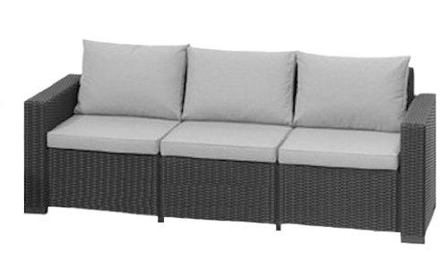 Suntime GF05816 California 3-Sitzer Sofa, graphite grau