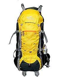 Himalayan Adventures 70 Ltrs Yellow Backpack/Rucksack/Travelling Bag/Hiking Bag/Adventure Bag/Camping Bag (Nylon...