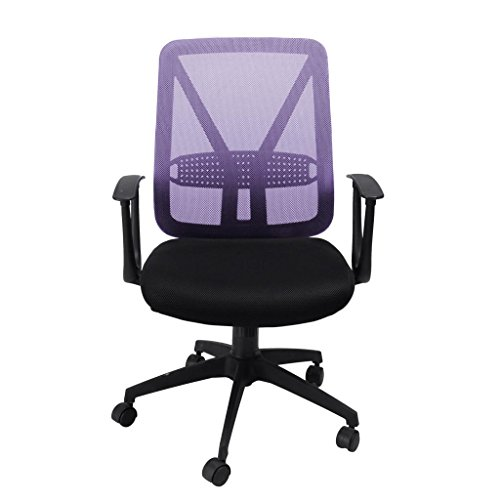 Furniturer Comfortable Fabric Home Office Task Computer Desk Chair In Purple Look Check Price Bednesi Desk Chair