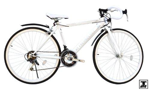 21technology【CL27-700】-700cロードバイク (ホワイト)12段変速