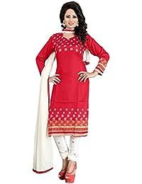 Marmic Fab Women's Cotton Printed Unstitched Regular Wear Salwar Suit Dress Material(MR_Dressmaterial_501)