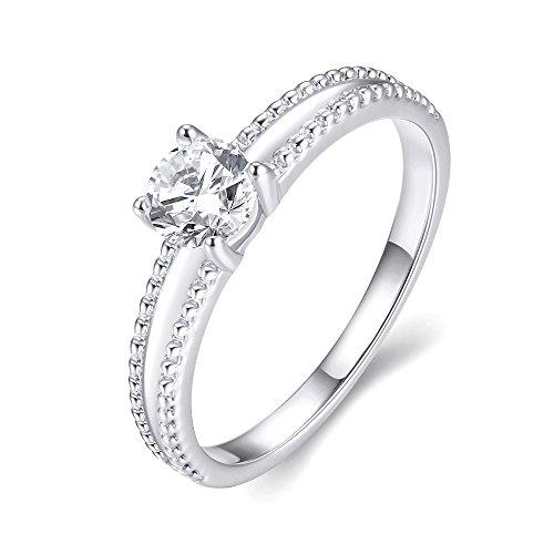 Meilleur de tous Amour Eternel Bague Femme 18K Or Plaqué Zircon Cubique Diamant  PR48