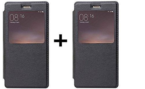 Asus Zenfone 5 A501CG Flip Cover, Shanice® Stock Clearance Sale Professional Normal Flip Flap Black Blk (2) Flip Case Cover Combo For - Asus Zenfone 5 A501CG