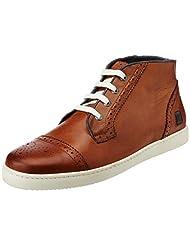 CR7 Cristiano Ronaldo Men's Jazz Dressy Brogue Camel Leather Boots