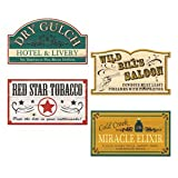 Old Style Western Sign Cutouts- 4pc