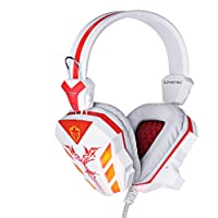 Gaming Headphone 3.5mm USB Game Headset Stereo Bass Noise Canceling Isolating With Microphone LED Light For PC... - B018E4VIX6