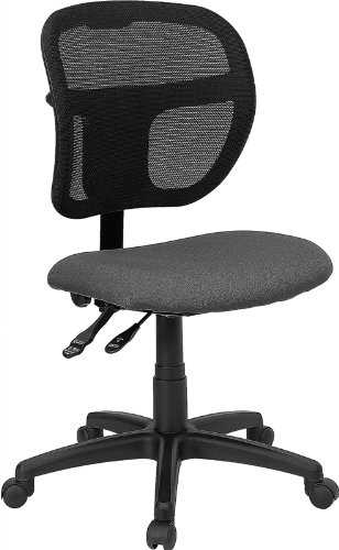 Fabric and Mesh Task Chair, Multiple Colors