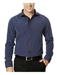 F Factor By Pantaloons Men's Regular Fit Polyester Cotton Shirt