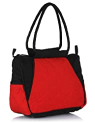 Home Heart Women's Cute And Classic Satchels Bag (Red/Black)