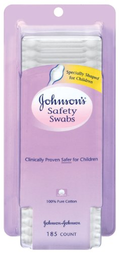 Johnson's Baby Safety Swabs, 185 Count (Pack of 2) Image