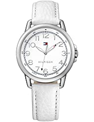 Tommy Hilfiger Analog White Dial White Leather Strap Womens Watch - TH1781652J